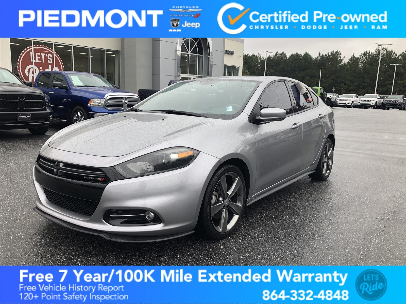 Certified Pre-Owned 2015 Dodge Dart 4dr Sdn GT